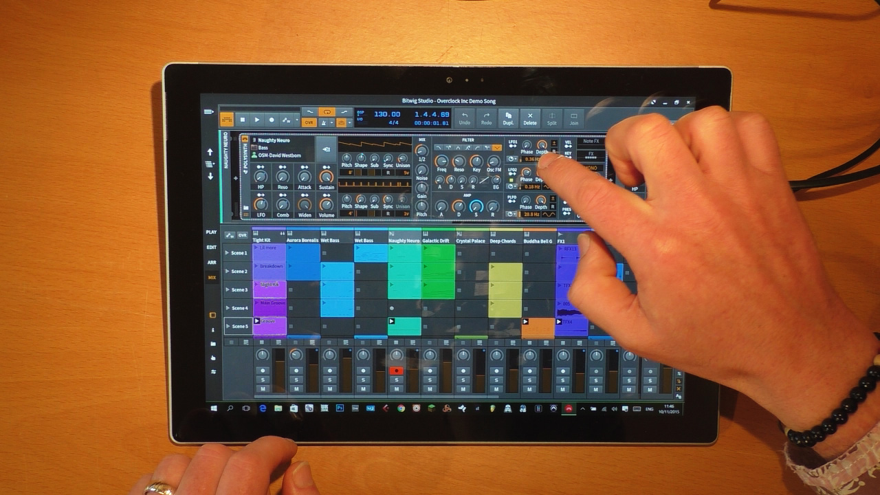 Bitwig Studio 1.3 Review Part 2 - Multi-touch - Surface Pro Audio