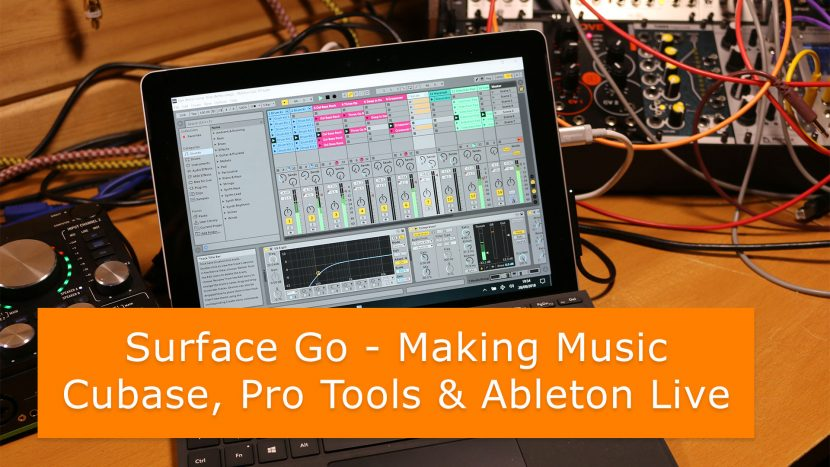 Making Music on the Surface Go Ep2 - DAW testing: Cubase